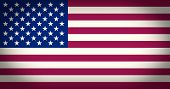 Retro Look Flag Of The Usa