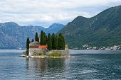St. George's Island Near Of Town Perast In Bay Of Kotor, Montenegro