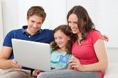 Family Shopping Online At Home