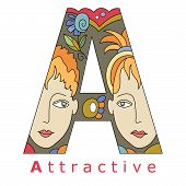 Letter A - Attractive
