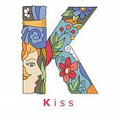 Letter K - Kiss