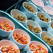 Mixed Seafood Raw Meat In British Market