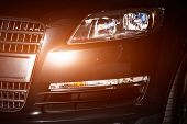 Luxury car front closeup