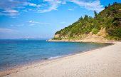 Vourvourou La Cara (Koutloumousiou) beach on  Sithonia, Greece.