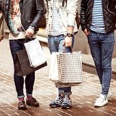 Three Young Fashion Male