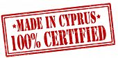 Made In Cyprus One Hundred Percent Certified