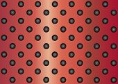 High resolution concept conceptual red metal stainless steel aluminum perforated pattern texture mes
