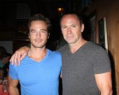 LOS ANGELES - AUG 1:  Ryan Carnes, William deVry at the William deVry Fan Club Event at the California Canteen on August 1, 2014 in Los Angeles, CA