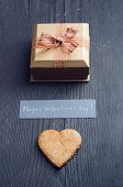 Valentine's Day Gift And Hearth Shape Cookie