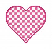 Pink and White Checkered Heart