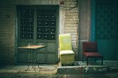 Rustic Antique Furniture Outdoors Tranquil Scene No People