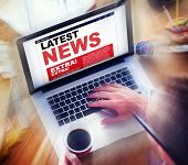 Digital Online Update Latest News Concept