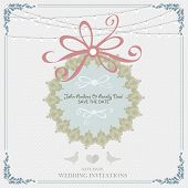 Wedding card flat. cards newlyweds named. Wedding card flat. Wedding Cake flat. Wedding Card Invitation in Vector