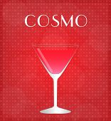 Drinks List Cosmopolitan With Red Background
