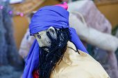 picture of cheater  - handmade puppet to decorate on christmas in detail - JPG