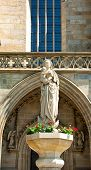stock photo of stature  - Statue of the Virgin Mary with Jesus - JPG