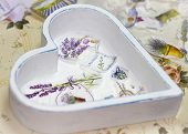 picture of decoupage  - Process of manufacture beauty tray in style a decoupage - JPG