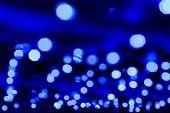 Blue Blurred Lights