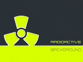 image of radioactive  - Abstract radioactive warning design with striped background - JPG