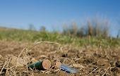 Rusty Spent Shotgun Cartridges