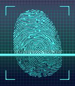 foto of fingerprint  - Fingerprint scanner - JPG