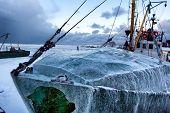 Fishing Vessel In The Port Of Frozen
