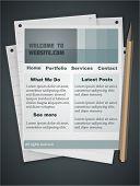 Notebook style website template. Fully vector, enjoy!