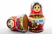 Two Traditional Russian Matryoshka Dolls