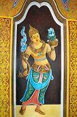 Anuradhapura - circa December 2014: Fresco gate-keeper doratupala, Sri Lanka circa December 2014
