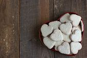picture of icing  - Heart shape cookies with coconut icing in the gift box - JPG