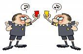 Soccer referee cards