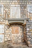 picture of old stone fence  - The old stone house in Supetar town center - JPG