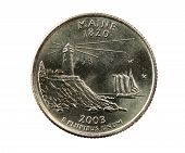 Isolated Maine Quarter