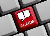 Computer Keyboard showing alarm