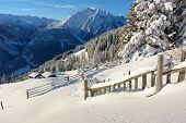 Winter landscape in Austrian Alps