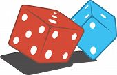 Pair of gaming dices