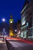 Speed motion at night London, red light - London City Street,  Abstract Light