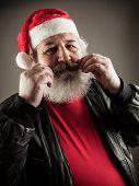 Funny Mature Man Dressed As Santa