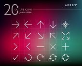 picture of arrowhead  - Arrow line icons set for web and mobile app - JPG