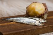 Spicy Salted Anchovies And Boiled Potatoes