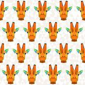 Bright Colored Abstract Geometric Polygonal Giraffe Seamless Pattern