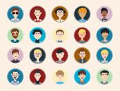 Stylish male people characters collection of various occupation, profession