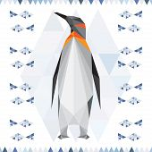 Polygonal Geometric Triangle Abstract Penguin Background