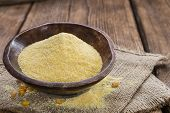 Cornmeal (on Rustic Background)