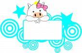 sweet girl unicorn cartoon singboard