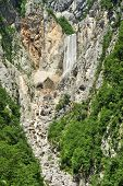 Waterfall Boka, biggest waterfall in Slovenia
