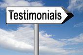 testimonials comments or customer feedback
