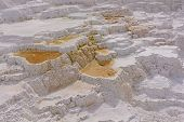Limestone Terraces At A Hot Spring