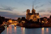 Rosy Evening At Notre Dame De Paris