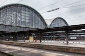 Main Train Station In Frankfurt Main